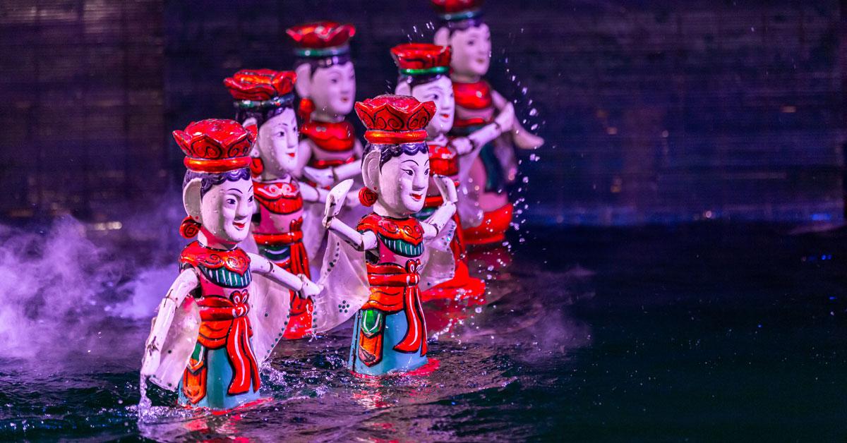 water puppet show, spectacle de marionnettes sur l'eau
